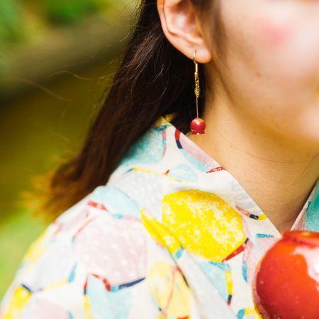 りんご飴_浴衣着用450