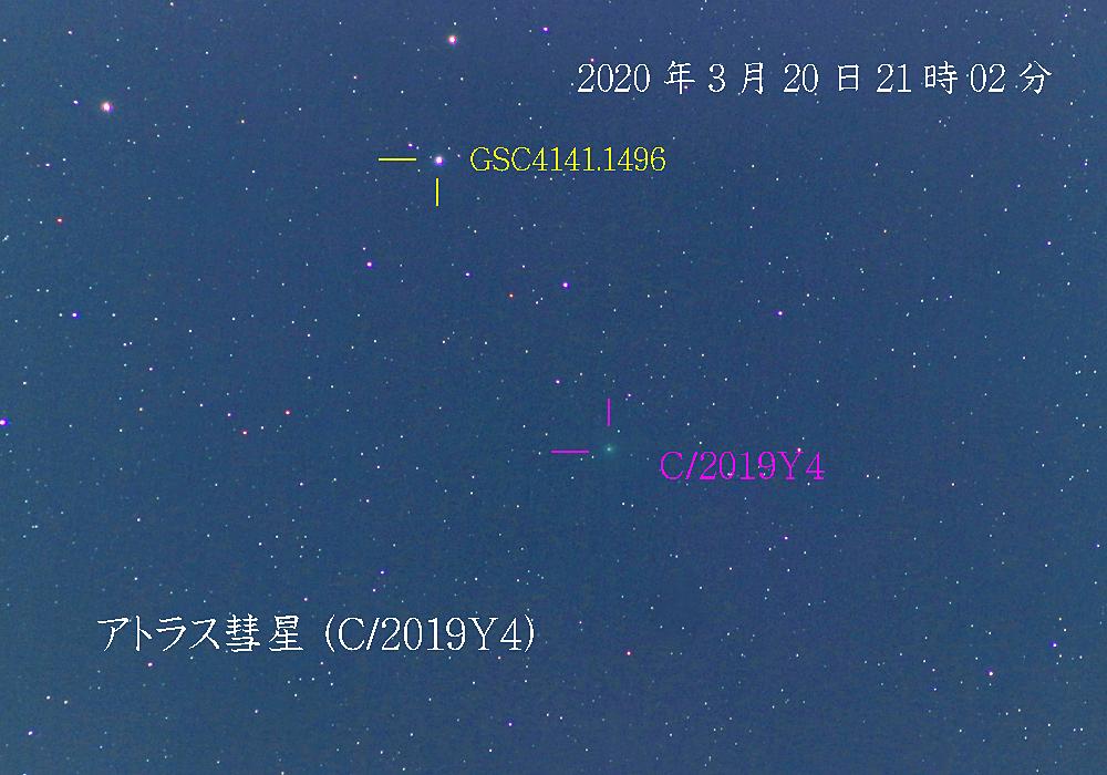 アトラス彗星 2020年3月20日