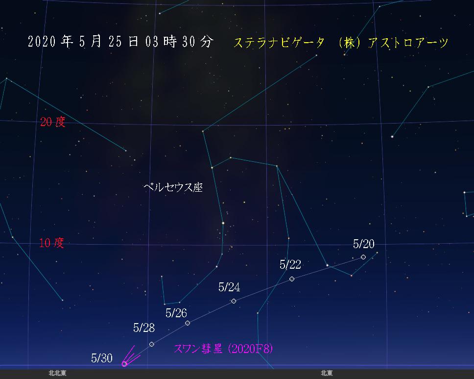星図 2020年5月25日 午前3時30分