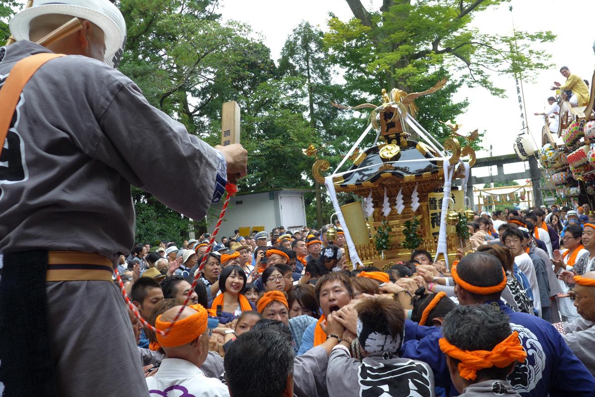 宗我神社祭礼神輿のお宮入り