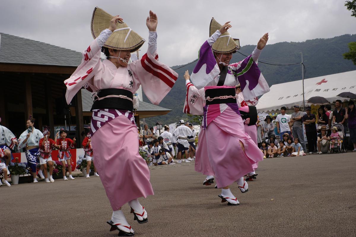 開成町あじさい祭りの阿波踊り