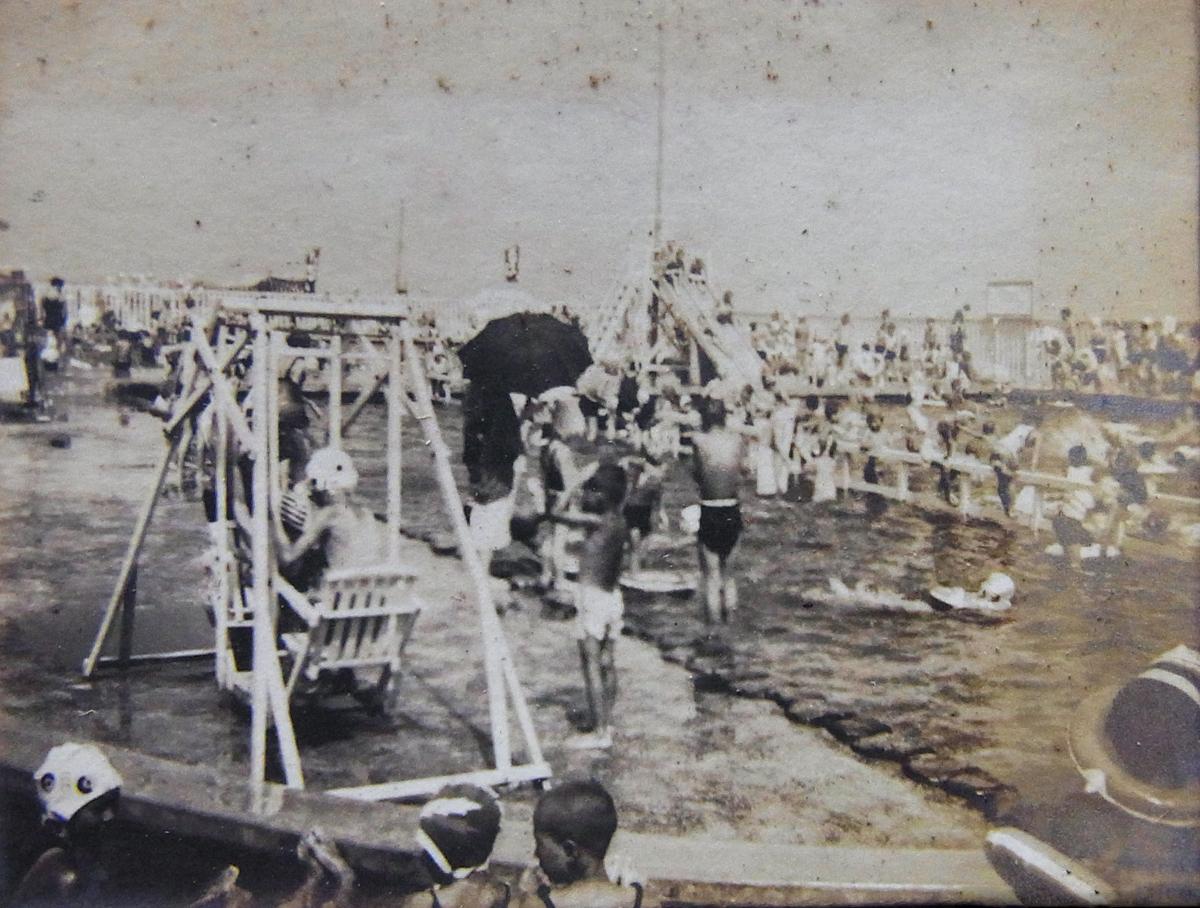 昭和13年の小田原御幸の浜プール