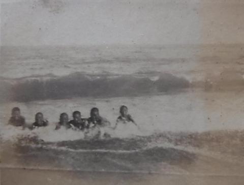 昭和13年の御幸の浜海水浴場