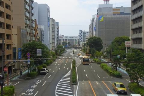 歩道橋から望む平塚駅方面