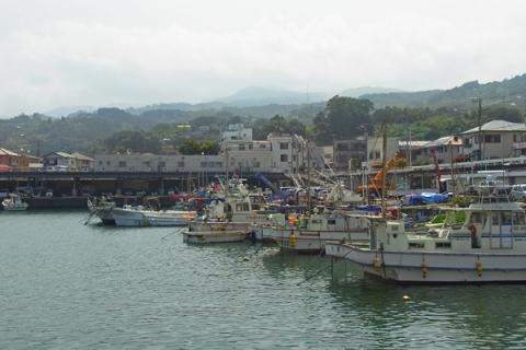 小田原漁港の船