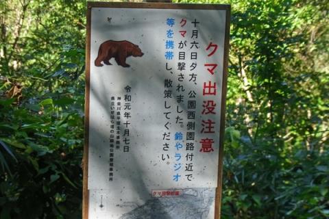 クマ出没の立て札