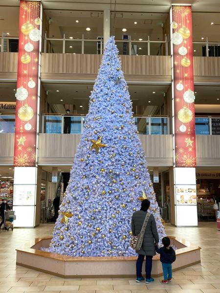 小田原ダイナシティイーストのクリスマス飾り