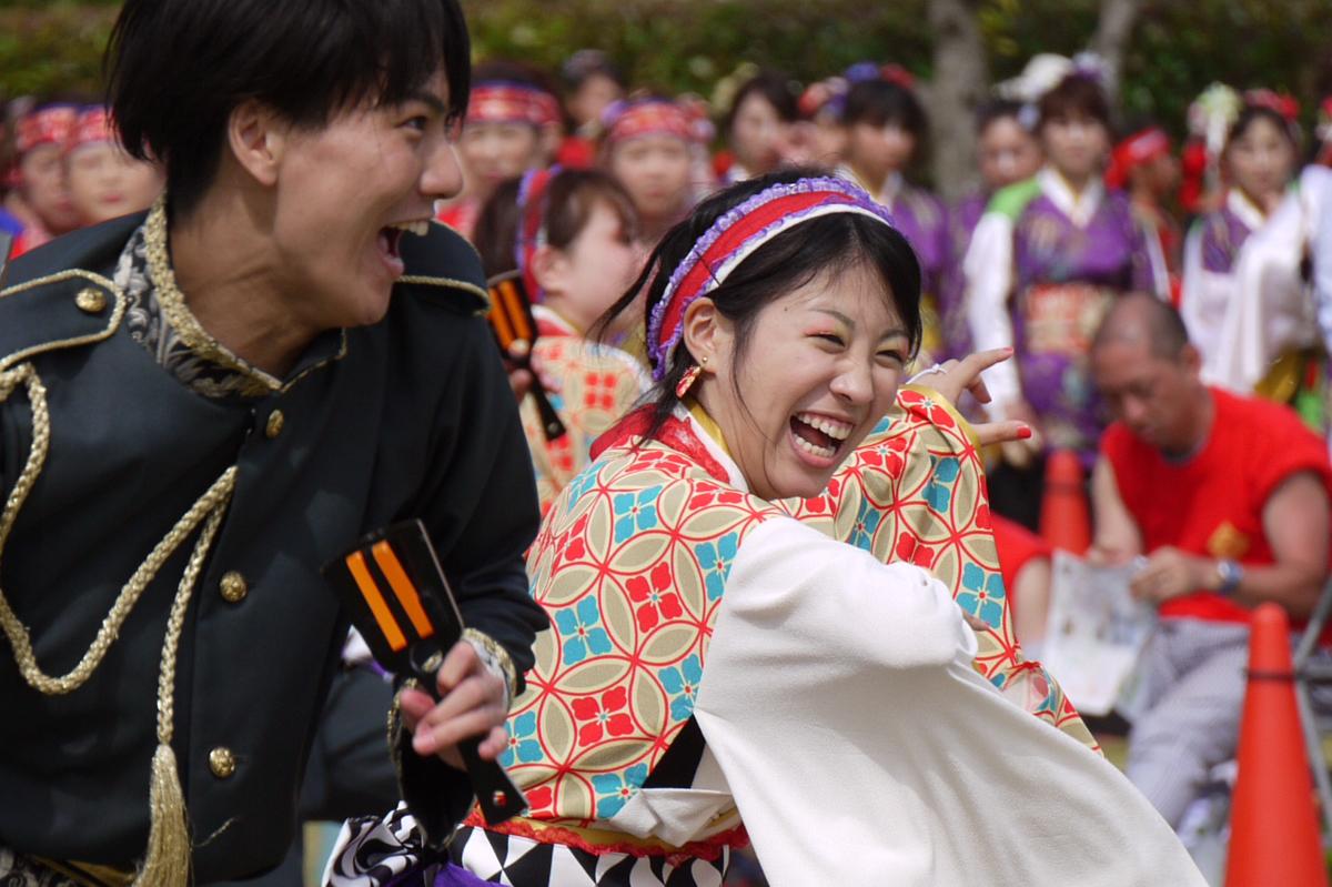 湘南よさこい祭り男女の踊り子