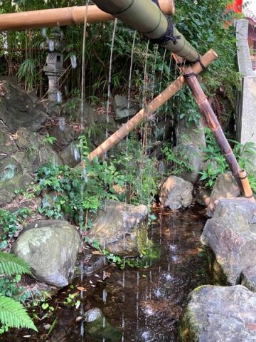 白笹稲荷神社の手水