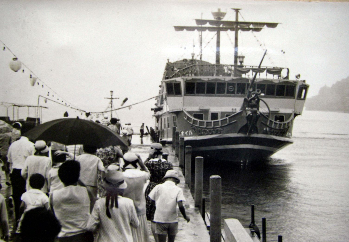 芦ノ湖の初代海賊船