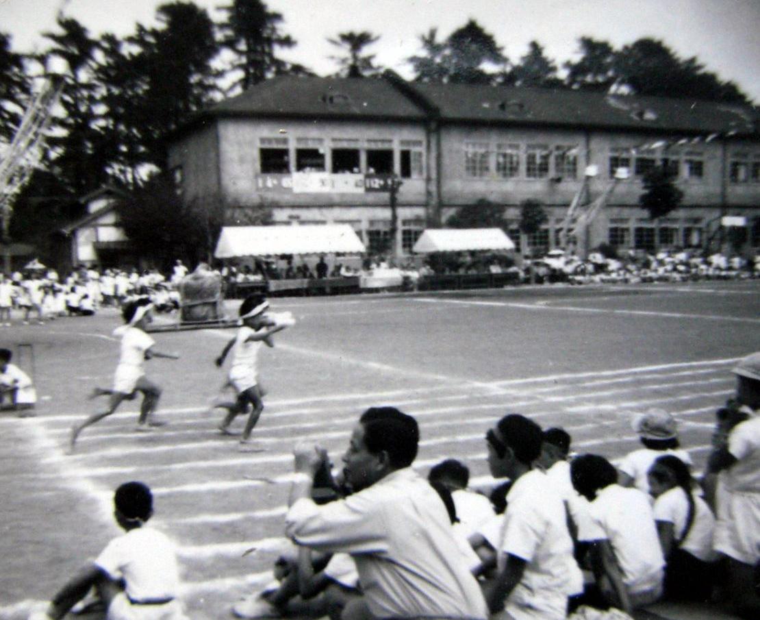 昭和時代の本町小学校運動会