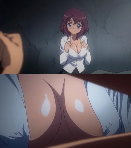 ゼロの使い魔 双月の騎士 アンリエッタの胸裸ヌード胸の谷間7