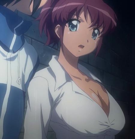 ゼロの使い魔 双月の騎士 アンリエッタの胸裸ヌード胸の谷間9