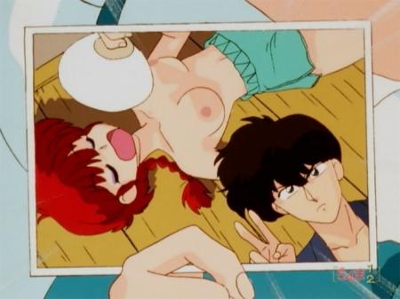 らんま1/2TV版 早乙女らんまの胸裸ヌード乳首362