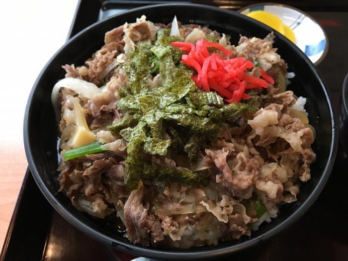 嶺北牛牛丼大盛(田舎料理 与作)2