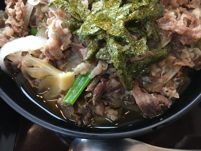 嶺北牛牛丼大盛(田舎料理 与作)4