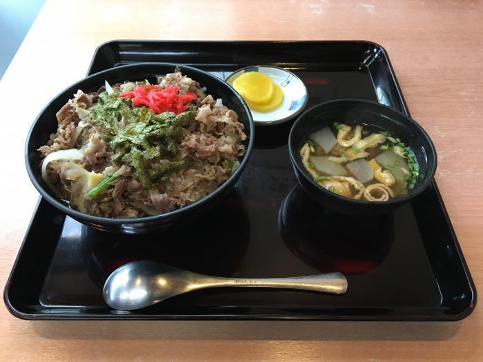 嶺北牛牛丼大盛(田舎料理 与作)3