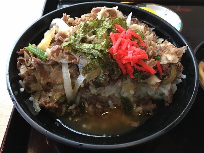 嶺北牛牛丼大盛(田舎料理 与作)5
