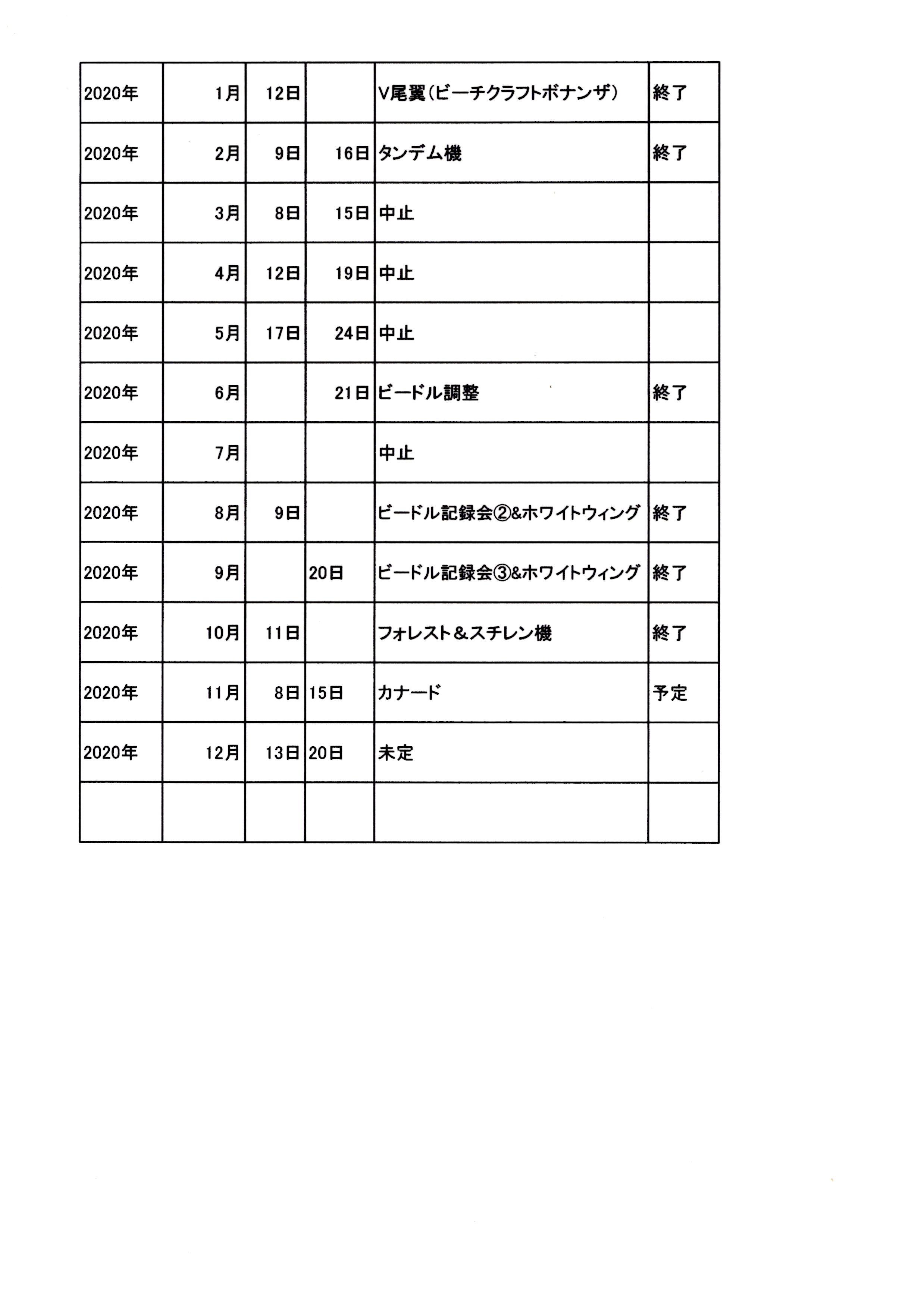 例会日程20-11