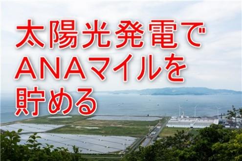 太陽光発電でANAマイルを貯める