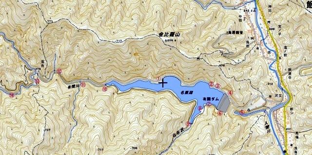 ☆名栗湖周辺図