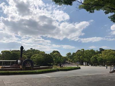 新緑の緑地公園