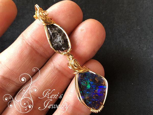 シホテアリン隕石×ボルダーオパール