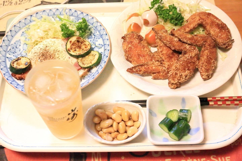 111夕食 鶏手羽定食.jpg