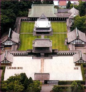上空から見た瑞龍寺