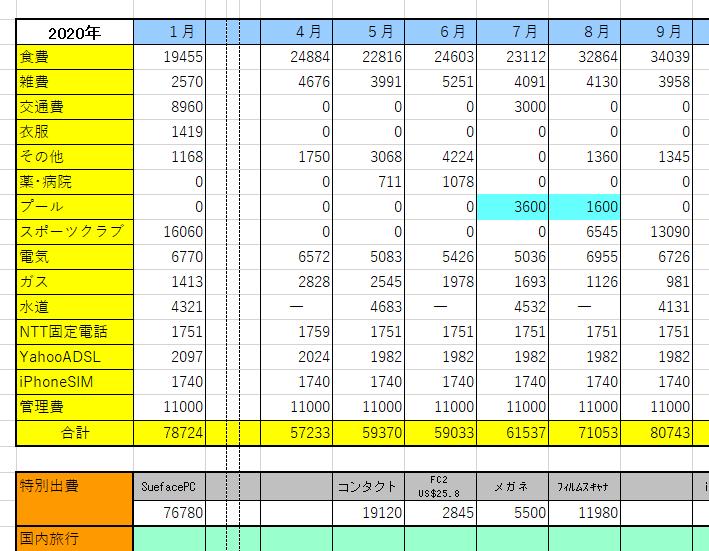 Excel家計簿2020-Asli(「NTT)-1