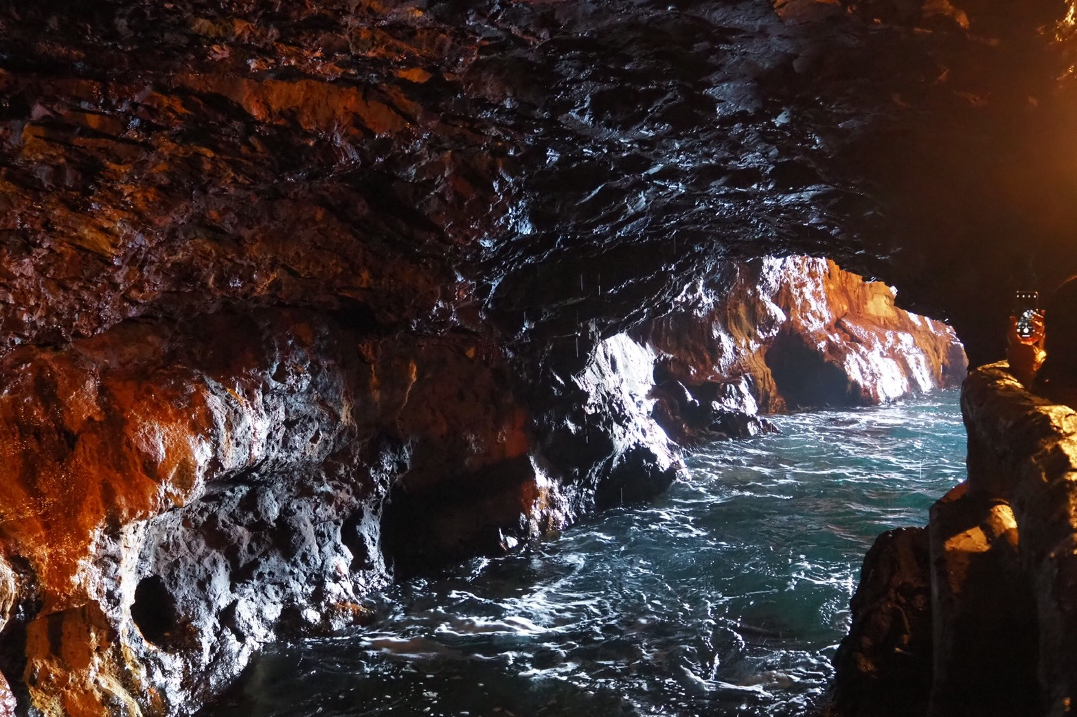 ぴーきち&ダイナ 和歌山南紀白浜ツーリング 三段壁洞窟 舟隠場