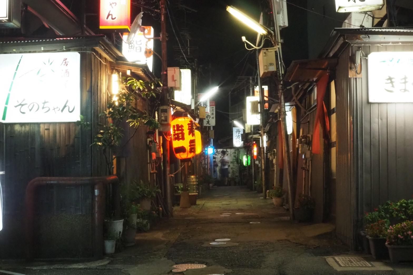 ぴーきちハーレーブログ 福井金沢ツーリング 金沢の夜 バラック街 金沢中央味食街