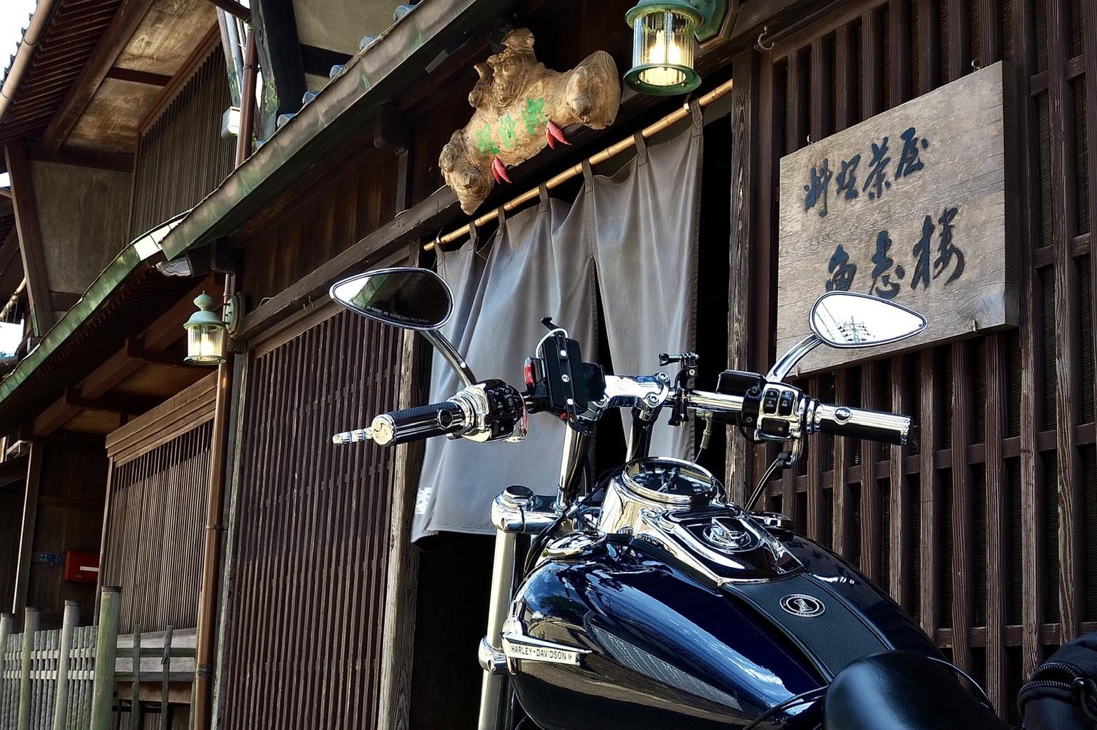 ぴーきちハーレーブログ 福井金沢ツーリング 東尋坊 グルメ 三国 魚志楼 芸妓さん 置屋