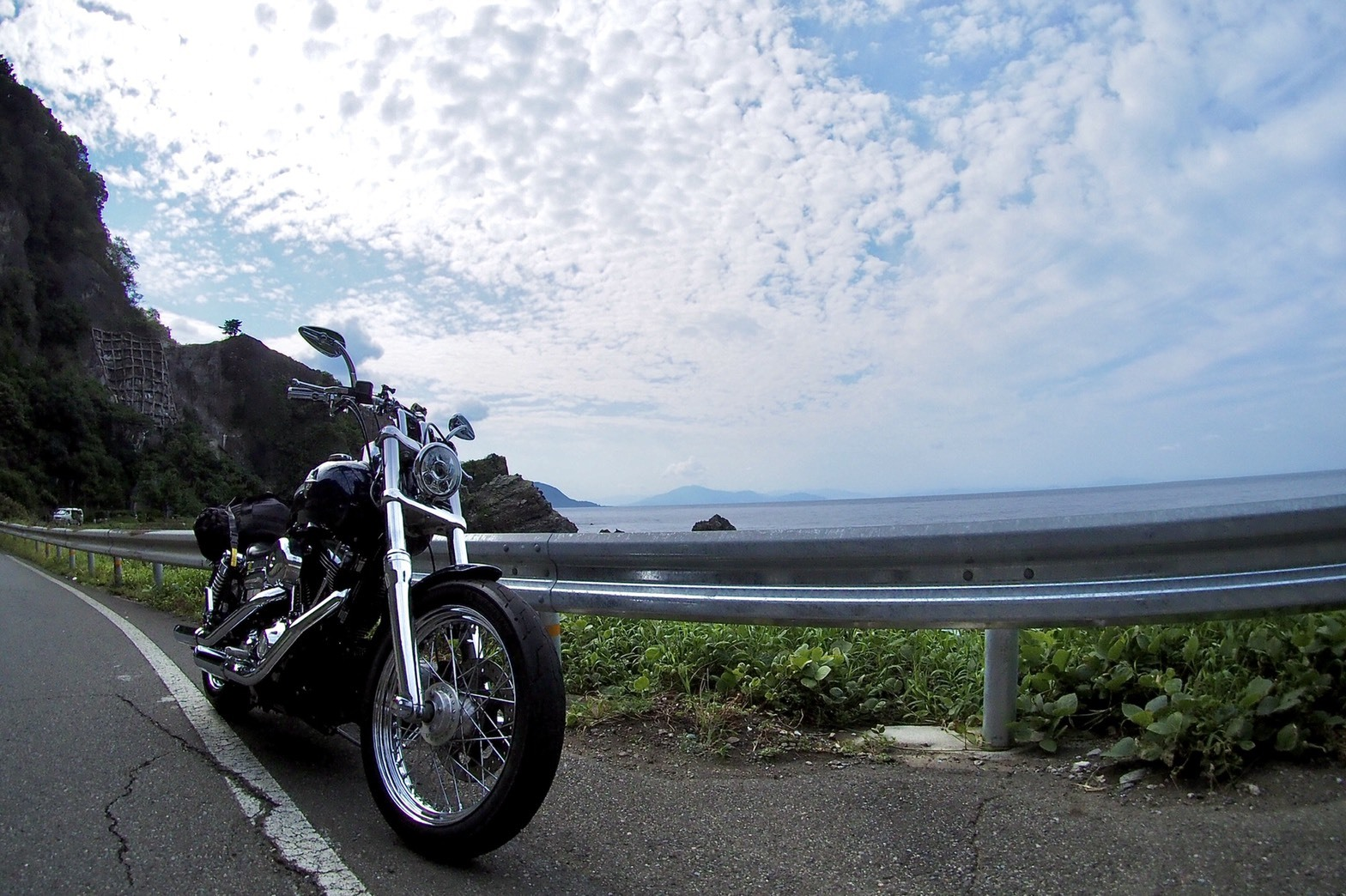 ぴーきちハーレーブログ 福井金沢ツーリング 日本海 国道8号線