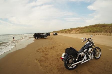 ぴーきちハーレーブログ 福井金沢ツーリング 石川県 千里浜なぎさドライブウェイ 砂浜の様子