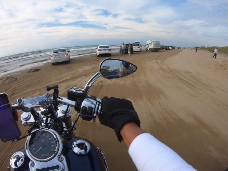 ぴーきちハーレーブログ 福井金沢ツーリング 千里浜なぎさドライブウェイ 砂浜をバイクで走れる