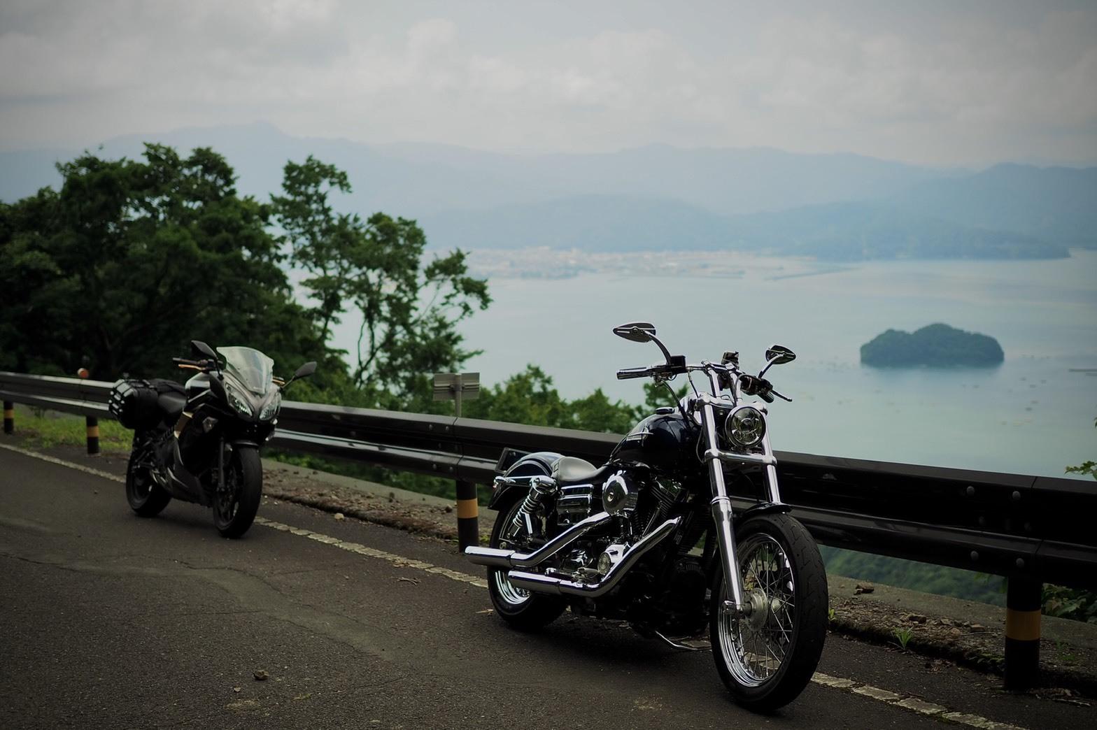 ぴーきちハーレーブログ 福井三方五湖ツーリング エンゼルラインの絶景