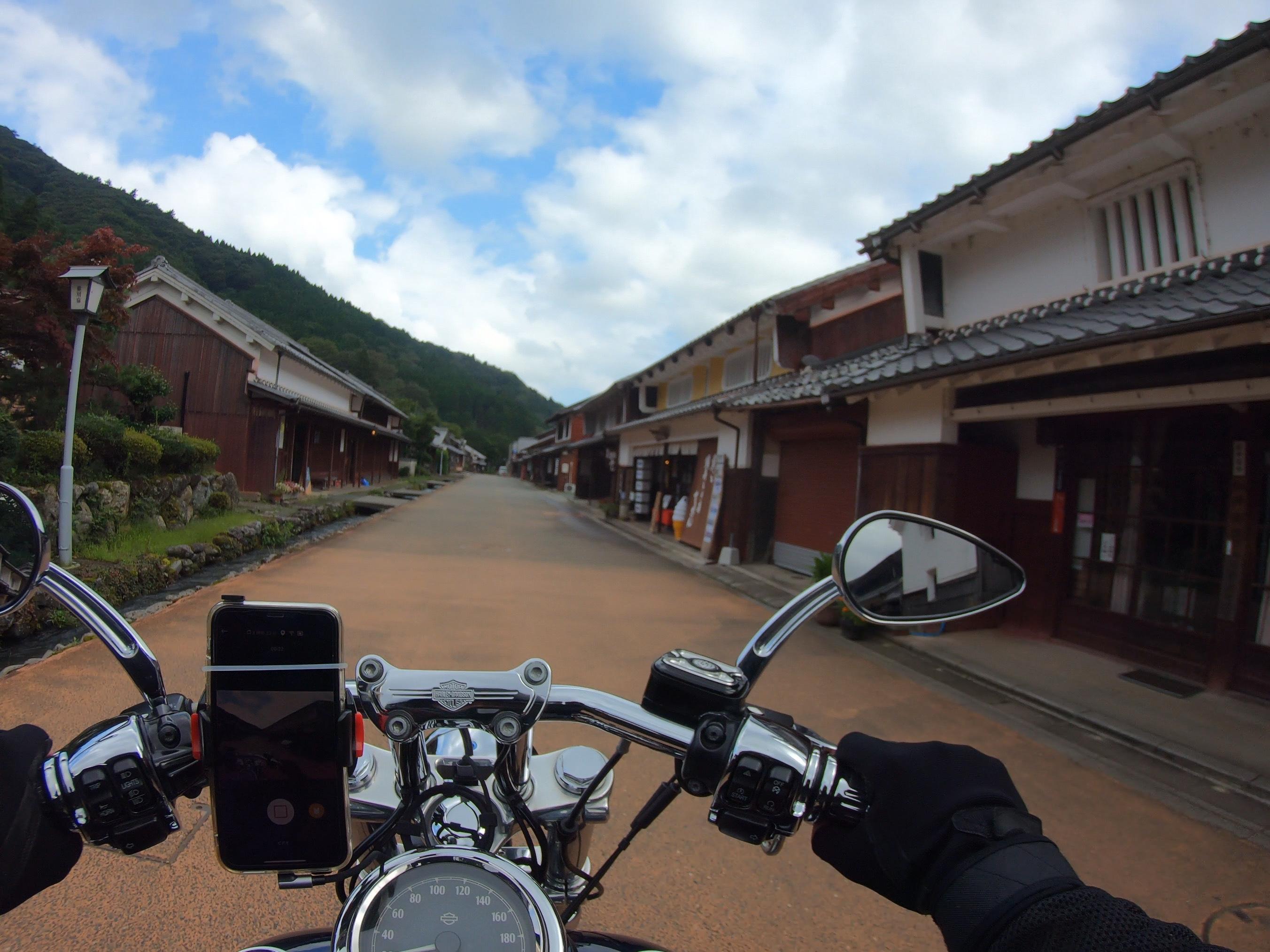 ぴーきちハーレーブログ 福井三方五湖ツーリング 熊川宿 古い町並み