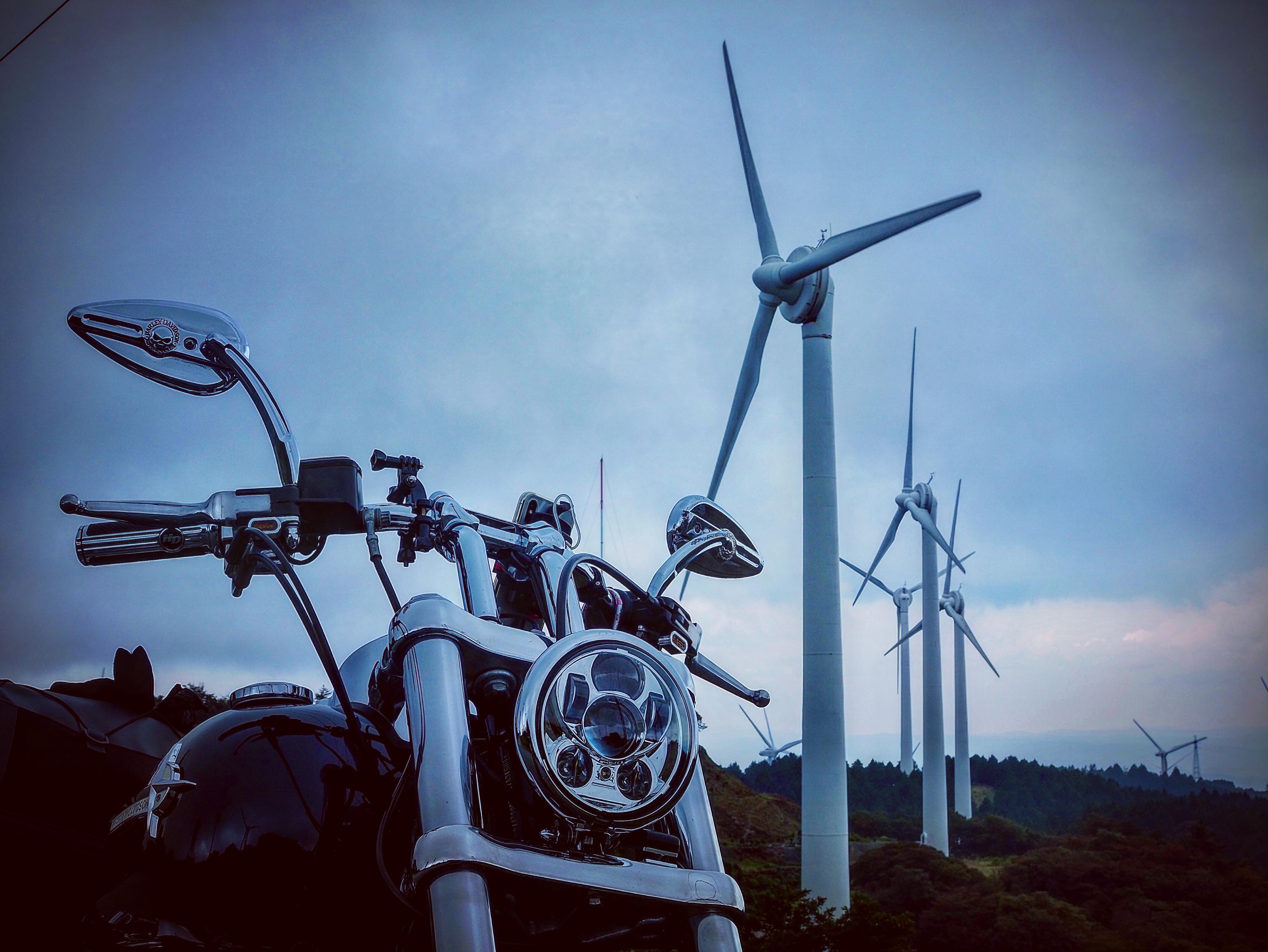ぴーきちハーレーブログ 青山高原 風力発電 インスタ映え スポット 不気味 怖い