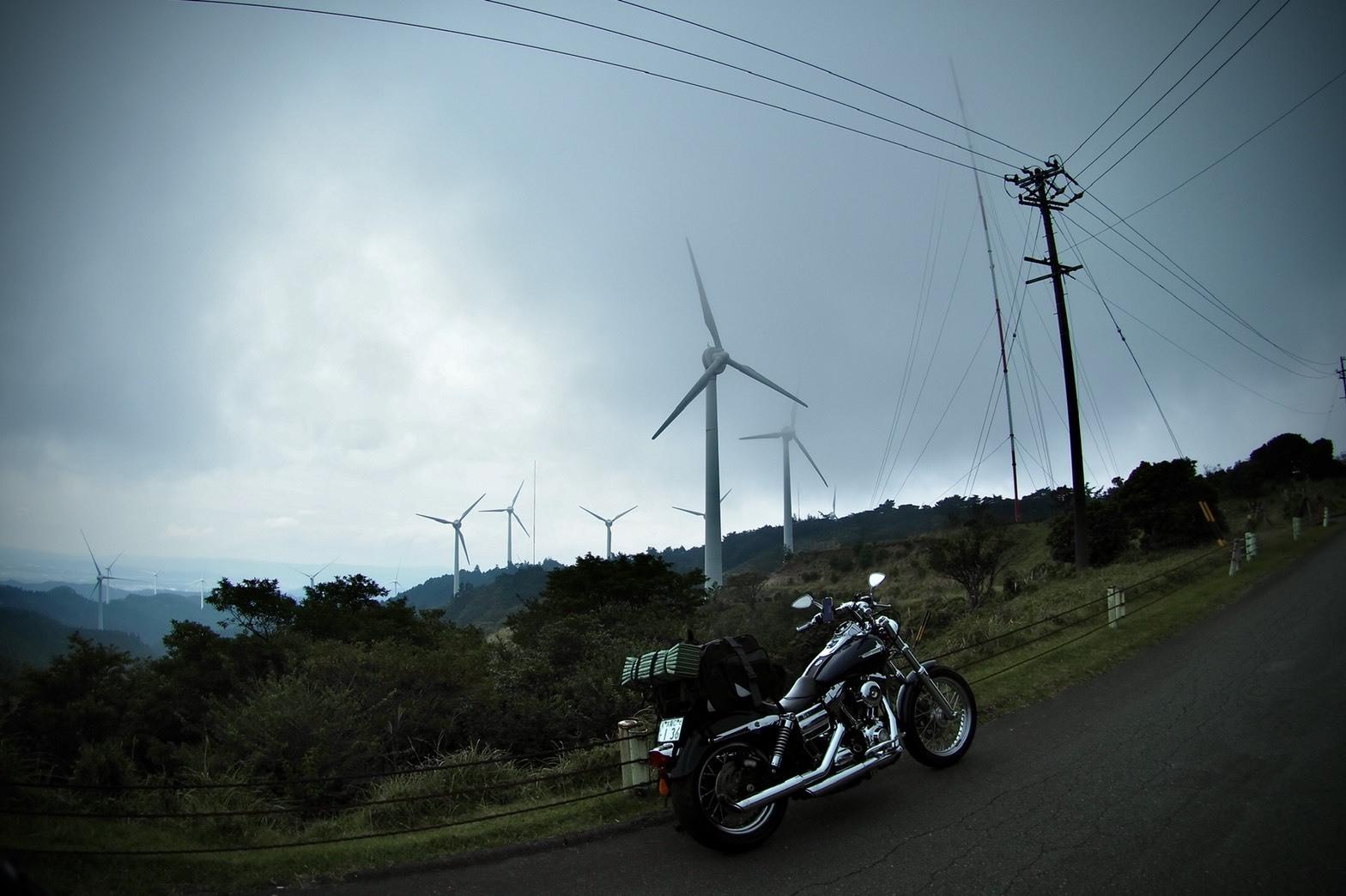 ぴーきちハーレーブログ 青山高原 風力発電 インスタ映え スポット 見晴らしが良い