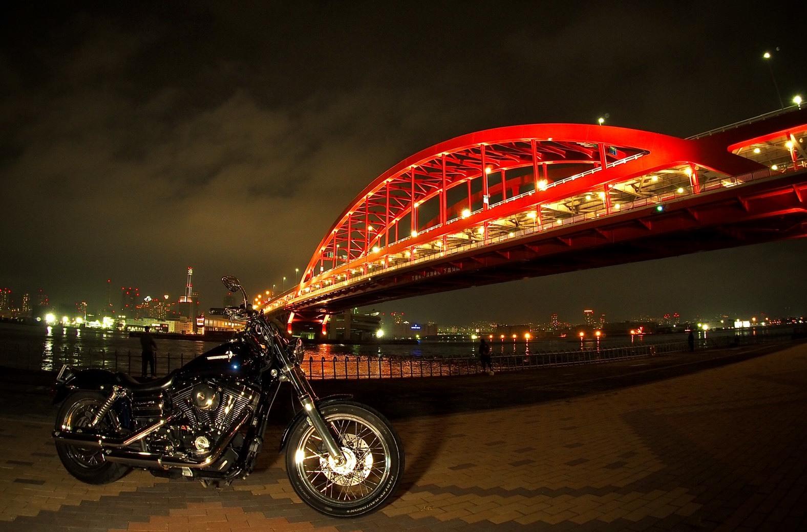 ぴーきちハーレーブログ 神戸ナイトツーリング 夜景撮影 インスタ映え 神戸大橋