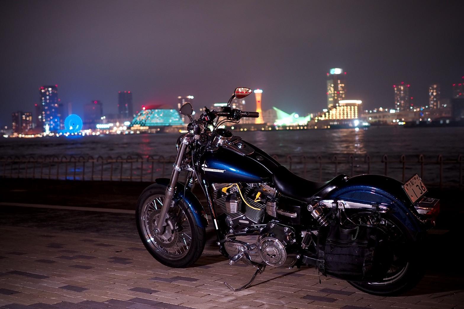 ぴーきちハーレーブログ 神戸ナイトツーリング 夜景撮影 インスタ映え ポートアイランド北公園