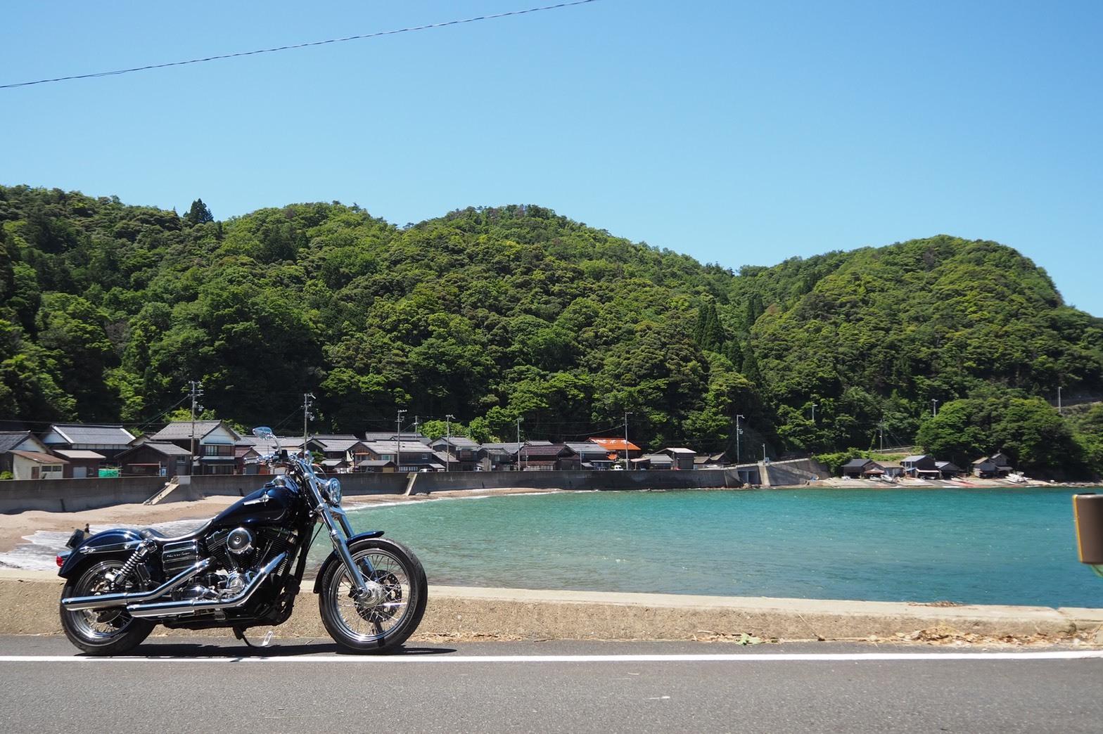 ぴーきち&ダイナ ハーレーブログ 京都丹後半島ツーリンング 海沿いの道 国道178号線