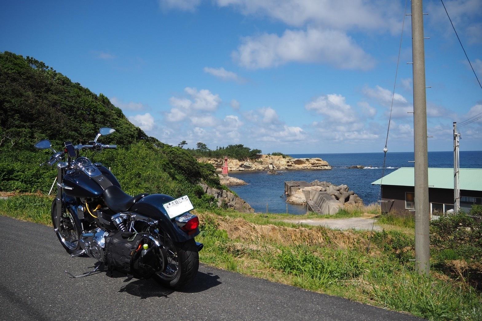 ぴーきち&ダイナ ハーレーブログ 京都丹後半島ツーリンング 灯台と磯