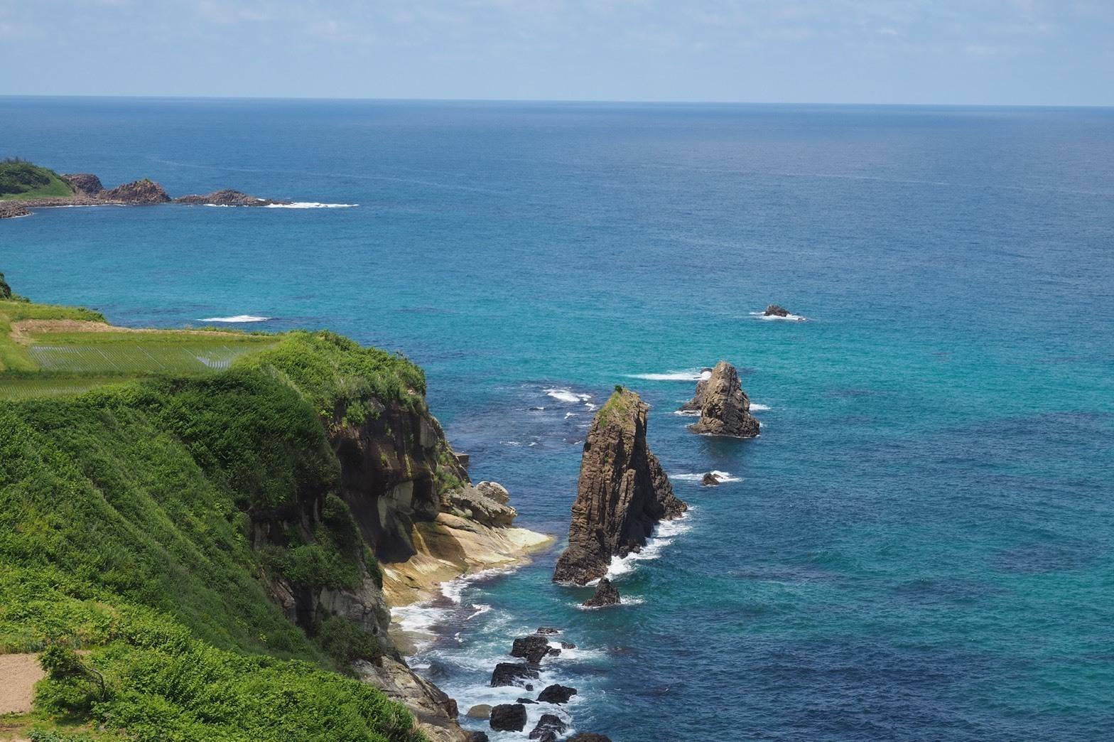 ぴーきち&ダイナ ハーレーブログ 京都丹後半島ツーリンング 屏風岩 眺め
