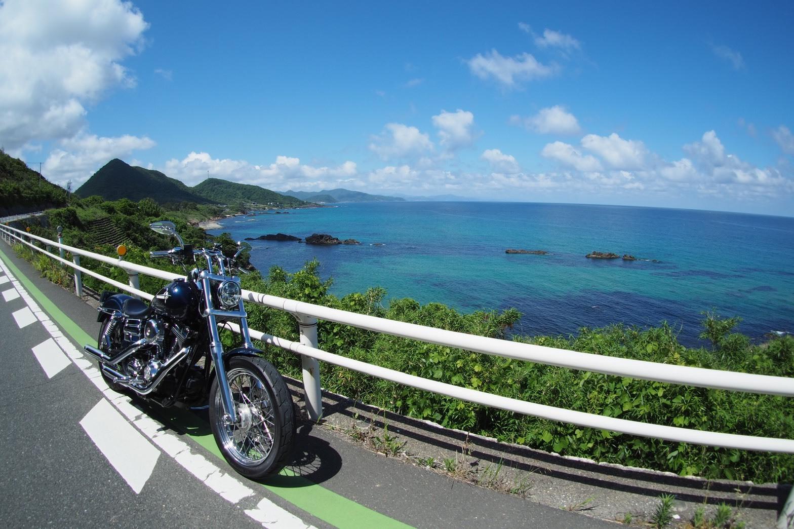 ぴーきち&ダイナ ハーレーブログ 京都丹後半島ツーリンング 海岸線