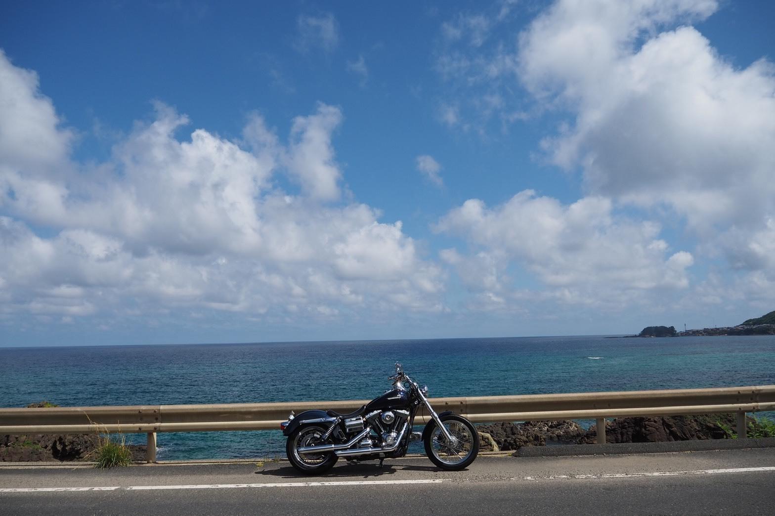 ぴーきち&ダイナ ハーレーブログ 京都丹後半島ツーリンング 海沿いの道