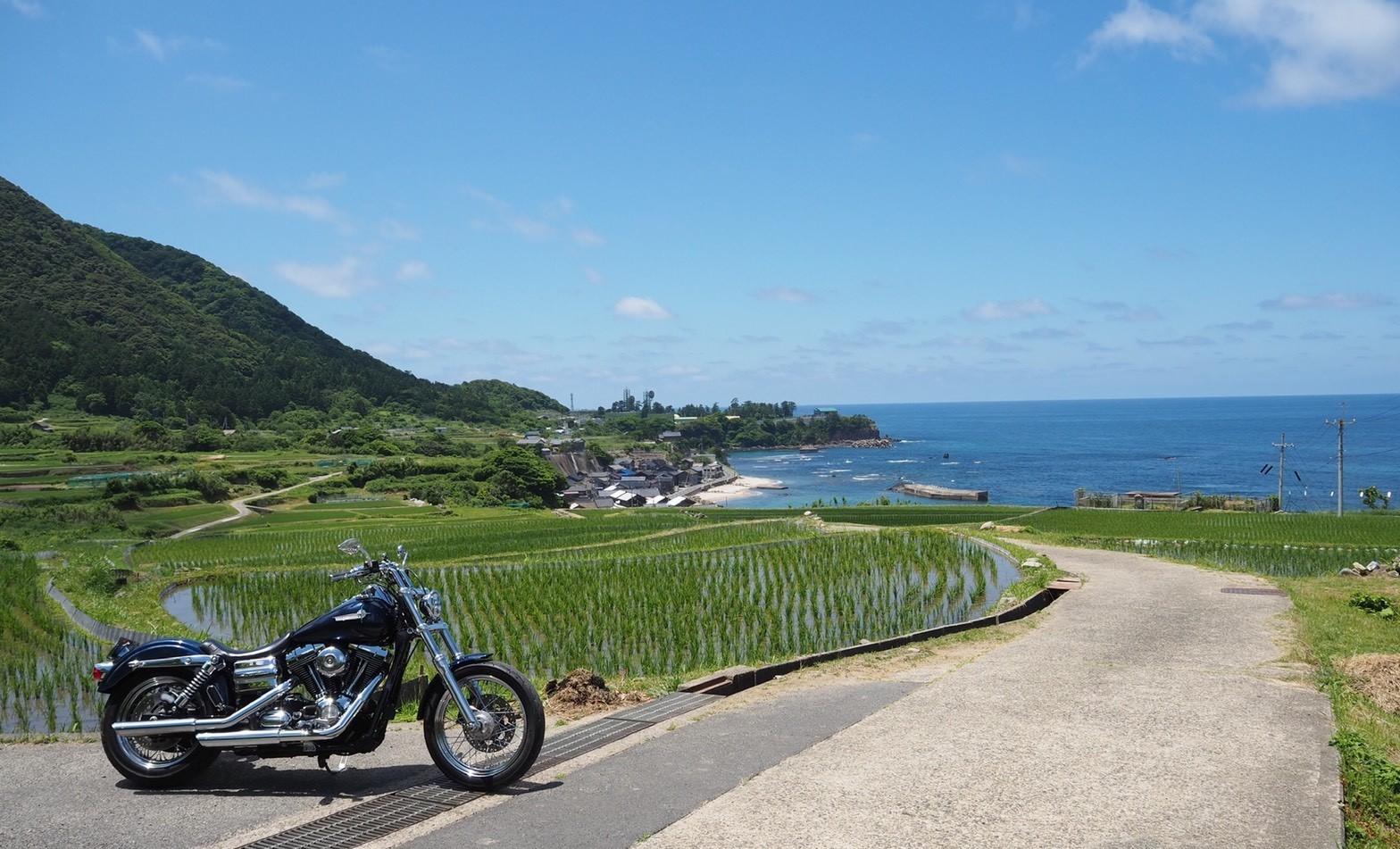 ぴーきち&ダイナ ハーレーブログ 京都丹後半島ツーリンング 袖志の棚田 美しい景色