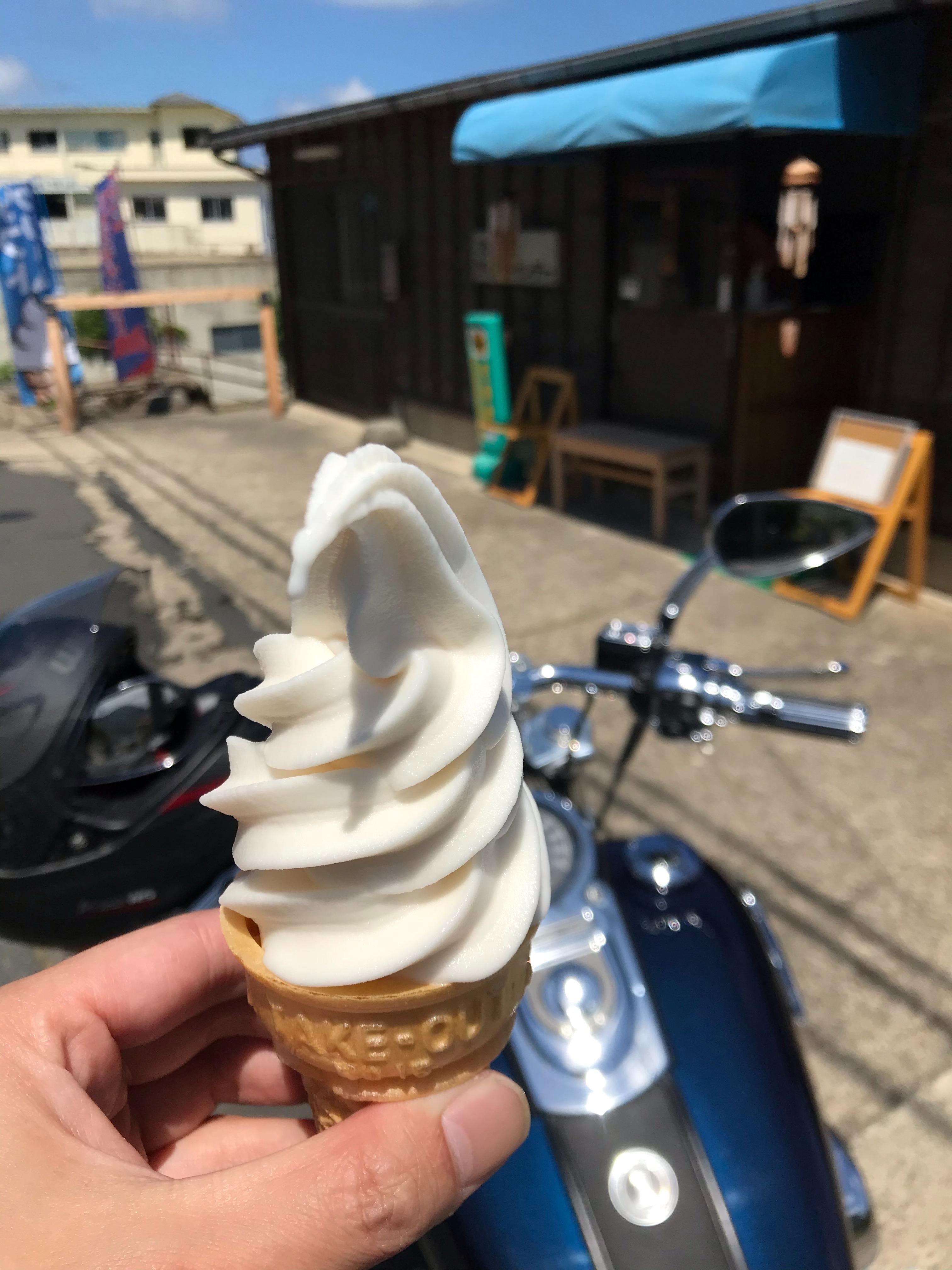 ぴーきち&ダイナ ハーレーブログ 京都丹後半島ツーリンング たいざアイスキャンデー ソフトクリーム