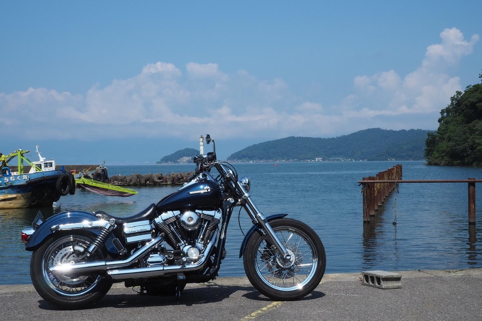 ぴーきちハーレーブログ ビワイチ ヨゴイチツーリング 沖の島